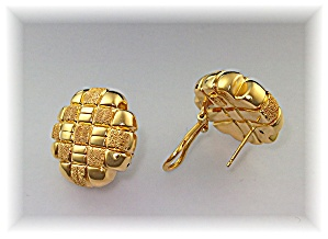 Earrings Sterling Silver Gold Vermeil French Clip  (Image1)