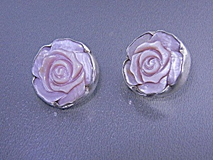 Charles Albert Pink Mother Pearl Sterling Silver Earrin (Image1)