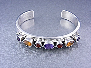 Native American Paul Stuingsten Sterling Silver Gems  (Image1)