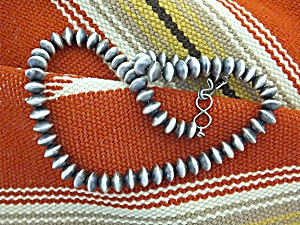 Native American Sterling Silver Hand Made Beads. S (Image1)