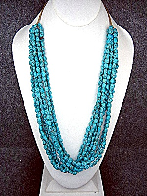 Native American Kingman Turquoise 7 Strand Necklace