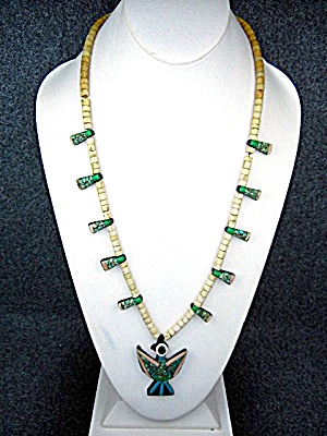 Native American Santo Domingo Inlay 40s-50s Necklace