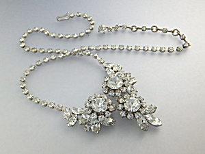 Necklace Crystals Rhodium Silver AUSTRIA (Image1)