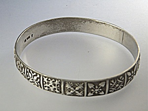 Bracelet Sterling Silver Hawiian Quilt Patterns  (Image1)