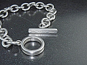 Tiffany Sterling Silver Toggle Bracelet T & Co