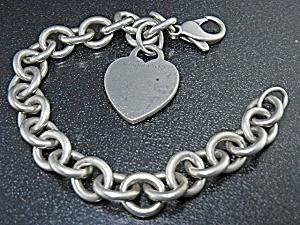 Tiffany & Co Sterling Silver Heart Bracelet (Image1)