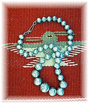 Native American Hand Made Beads Sterling Silver (Image1)