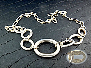 Necklace Sterling Silver Large Graduated Links  (Image1)