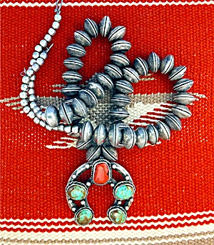 Native American Sterling Silver Dimes Coral Turquoise N (Image1)