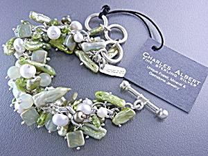 Charles Albert Peridot Sterling Silver Chachki Bracelet (Image1)