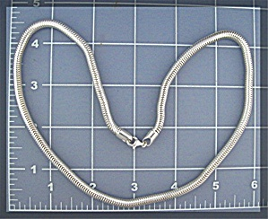 Sterling Silver Snake Chain Necklace  38 grams (Image1)