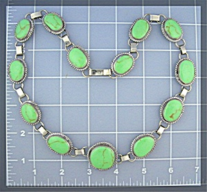 Native American Sterling Silver Gaspeite Necklace