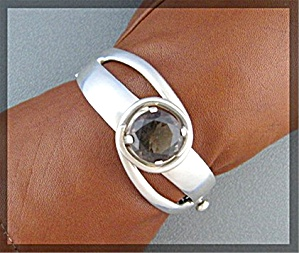 Sterling Silver Smoky Quartz Bracelet MBS Mexico (Image1)