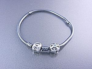 Pandora Sterling Silver Bracelet 1 Bead  (Image1)