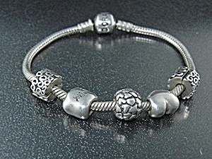 Pandora Sterling Silver 5 Charms Bracelet  (Image1)