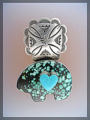 Pendant Rocki Gorman Sterling Silver Heart Bear