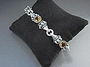 Lagos Caviar Sterling Silver Citrine Bracelet (Image1)