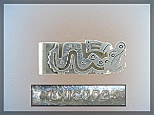 Sterling Silver Mexico Dragon Money Clip (Image1)