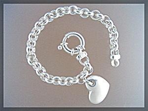 Sterling Silver MILOR Link Heart Bracelet Made in Italy (Image1)