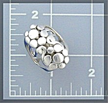 Sterling Silver Vintage Designer Look  Dot Ring (Image1)