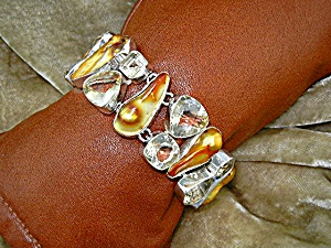 Biwa Pearls Lemon Quartz Sterling Silver Bracelet (Image1)