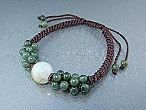 Jade and Cord Spiritual bead Bracelet (Image1)