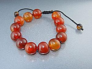 Carnelian Beads Adjustable Cord Bracelet (Image1)