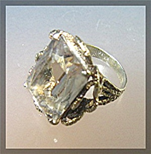 Ring Sterling Silver Gold Vermeil Smoky Quartz  (Image1)