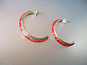 Earrings 14K Gold Coral Hoop Pierced Hoop NASTACIO (Image1)