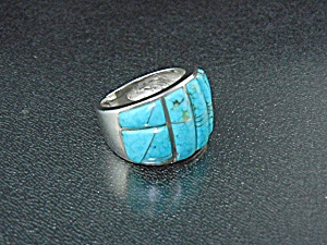 Sterling Silver Studio Gl Design Turquoise Opal Inlay