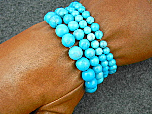 Turquoise Beads Stretch Bracelets 4