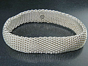 Tiffany & Co Sterling Silver Mesh Flex Bracelet