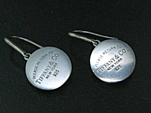 Tiffany & Co. Return To Sterling Silver Dangle Earrings
