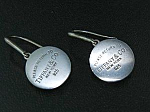 Tiffany & Co. Return To Sterling Silver Dangle Earrings (Image1)