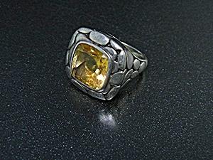 John Hardy Batu Kalu Sterling Silver Citrine Ring (Image1)