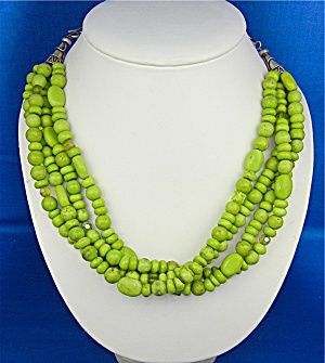 Rocki Gorman 4 Strand Gaspeite Crystal Necklace