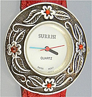 Surrisi Sterling Silver Coral Flowers Mother Of Pearl W