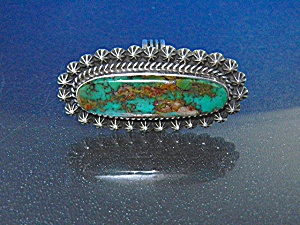 Navajo Sterling Silver Turquoise Ring Happy Piasso