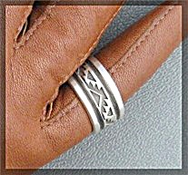 Sterling Silver American indian Ring Signer LANER (Image1)