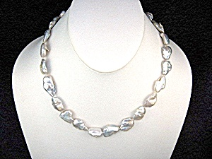 14k Gold Fill Silver Keishi Pearl Necklace