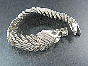 Taxco Mexico Sterling Silver Fox Bracelet (Image1)