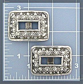 Silver Square Concho's (Image1)