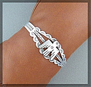 Native American Sterling Silver Thunderbird Cuff