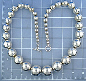 Mexico Taxco Sterling Silver  Beads 238 Grams (Image1)