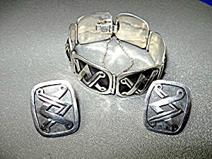 Pedro Castillo Sterling Silver Taxco Mexico Bracelet Ea (Image1)
