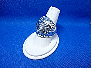 Sterling Silver Swirl Dome Ring Thailand.