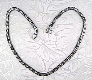 Necklace Sterling Silver Woven Chain S Hook Clasp (Image1)