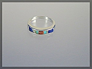 Sterling Silver Lapis Turquoise Band Ring