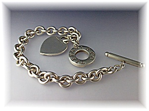 Bracelet TIFFANY & Co Sterling Silver Heart Toggle (Image1)