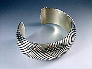 Native American Sterling Silver Cuff Bighand